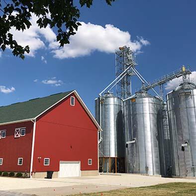 Organic farm and grain storage